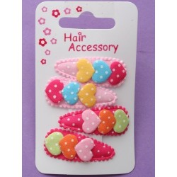 card of 4 fabric covered sleepies with fabric hearts....