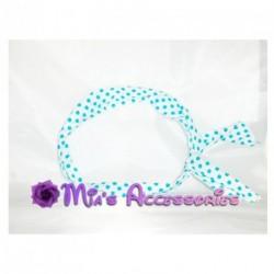 Bendy wire headband - Polka dot fabric wired head band