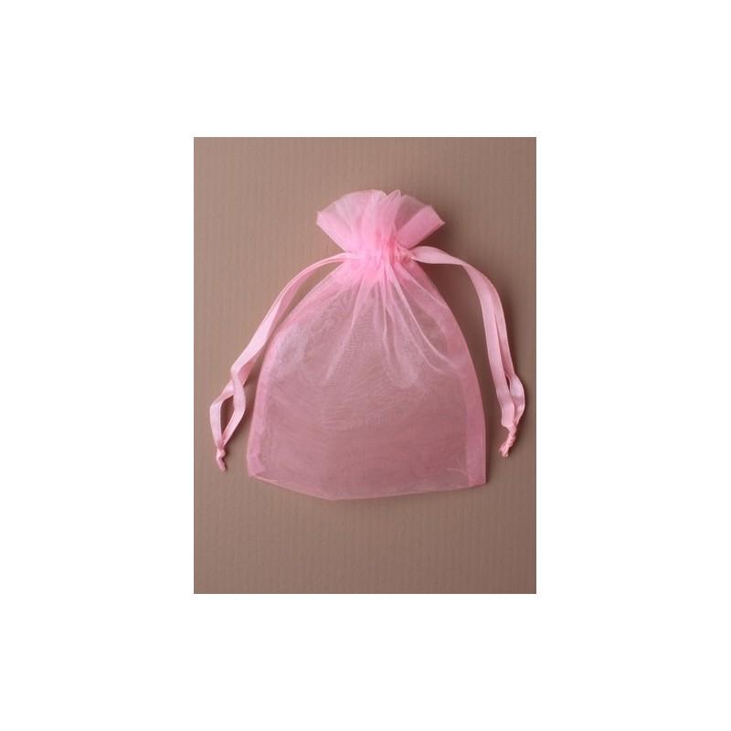organza bolsa de regalo - 11x15 luz de color rosa