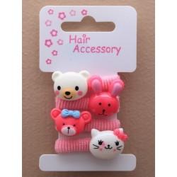 card of 4 pink children's...