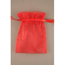 red organza bag. size approx 11x15cm.