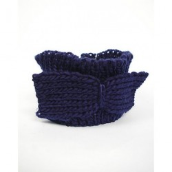 Knitted headband with knitted bow