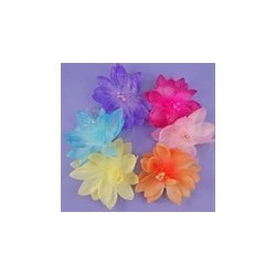 chiffon flower hair elastics