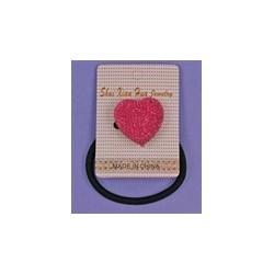 Colorful diamante heart motif elastics