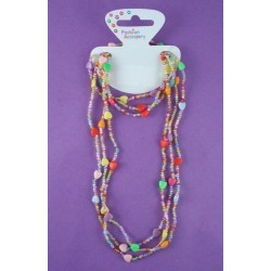 assorted bright bead necklace and bracelet set.