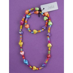 """14"""" stretch bright coloured bead and motif bead necklace..."""