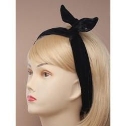 black velvet bendy headwrap bandeaux.
