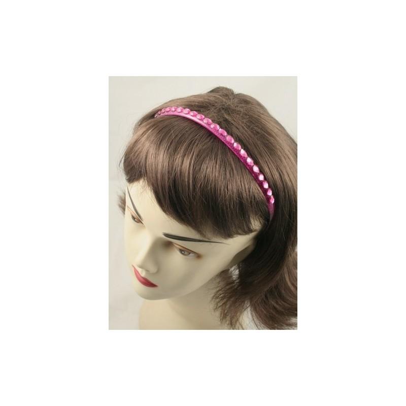 Aliceband - Coloured oval stones on matching plastic headband alice band