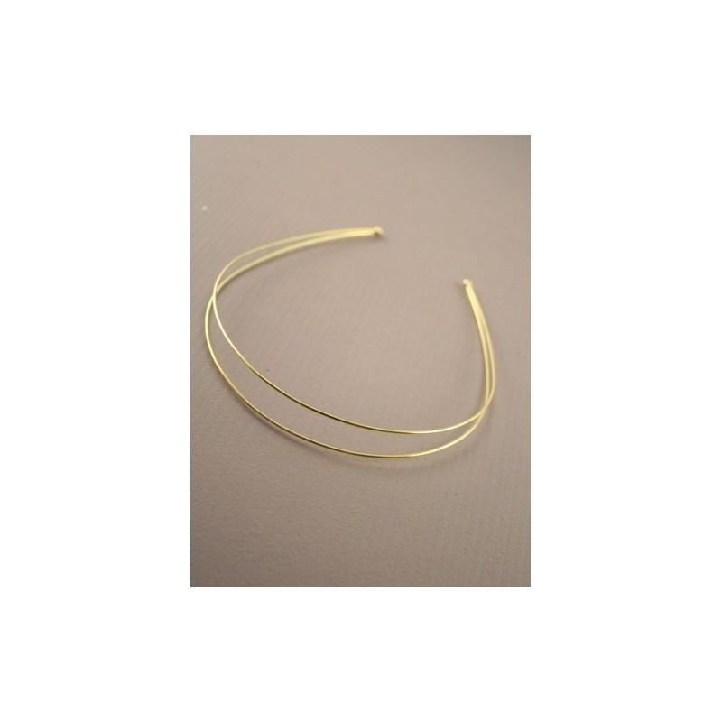 dorada doble ronda de alambre alice / banda de tiara.