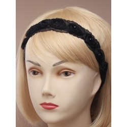 black lace rosebud fabric...