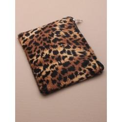 animal print fabric purse....