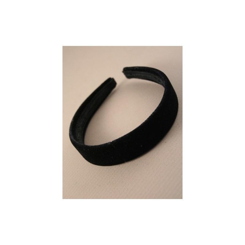 Aliceband - Plain wide (2.5cm) Black velvet headband alice band