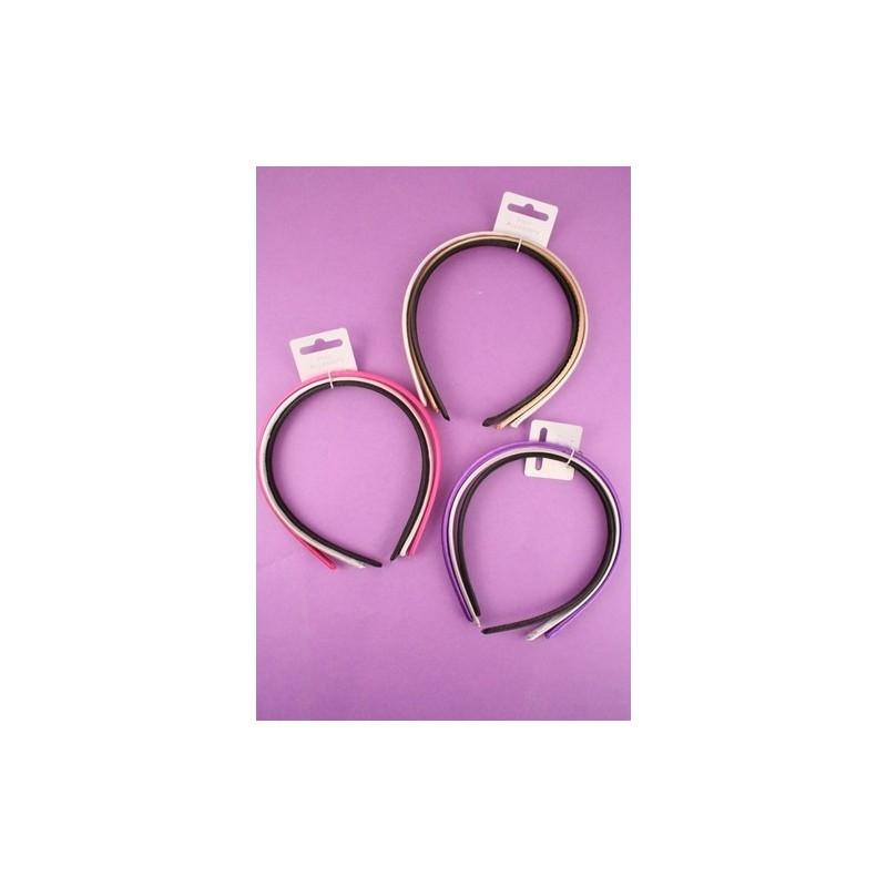 aliceband - Triple Pack - tela de satén de color banda bandas alice