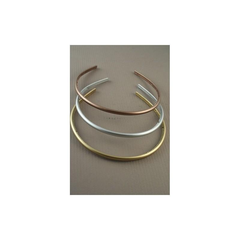 Aliceband - Triple Pack - narrow metallic headband alice bands