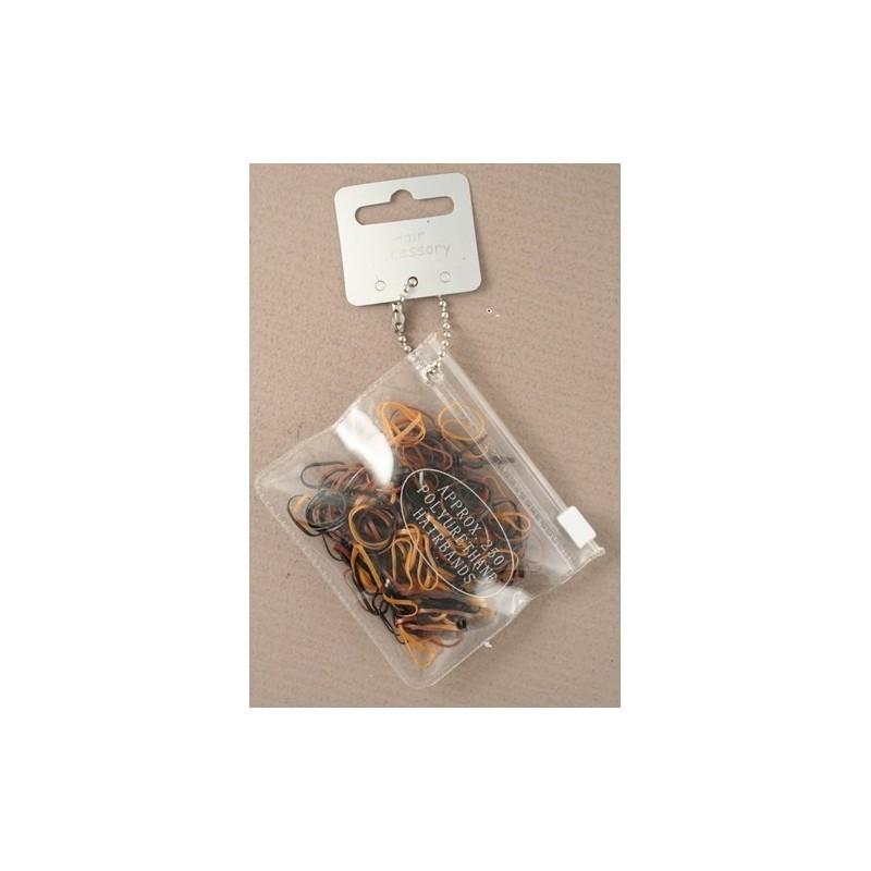 bolsa com 250 pequenas mistas marrons poliuretano bandas