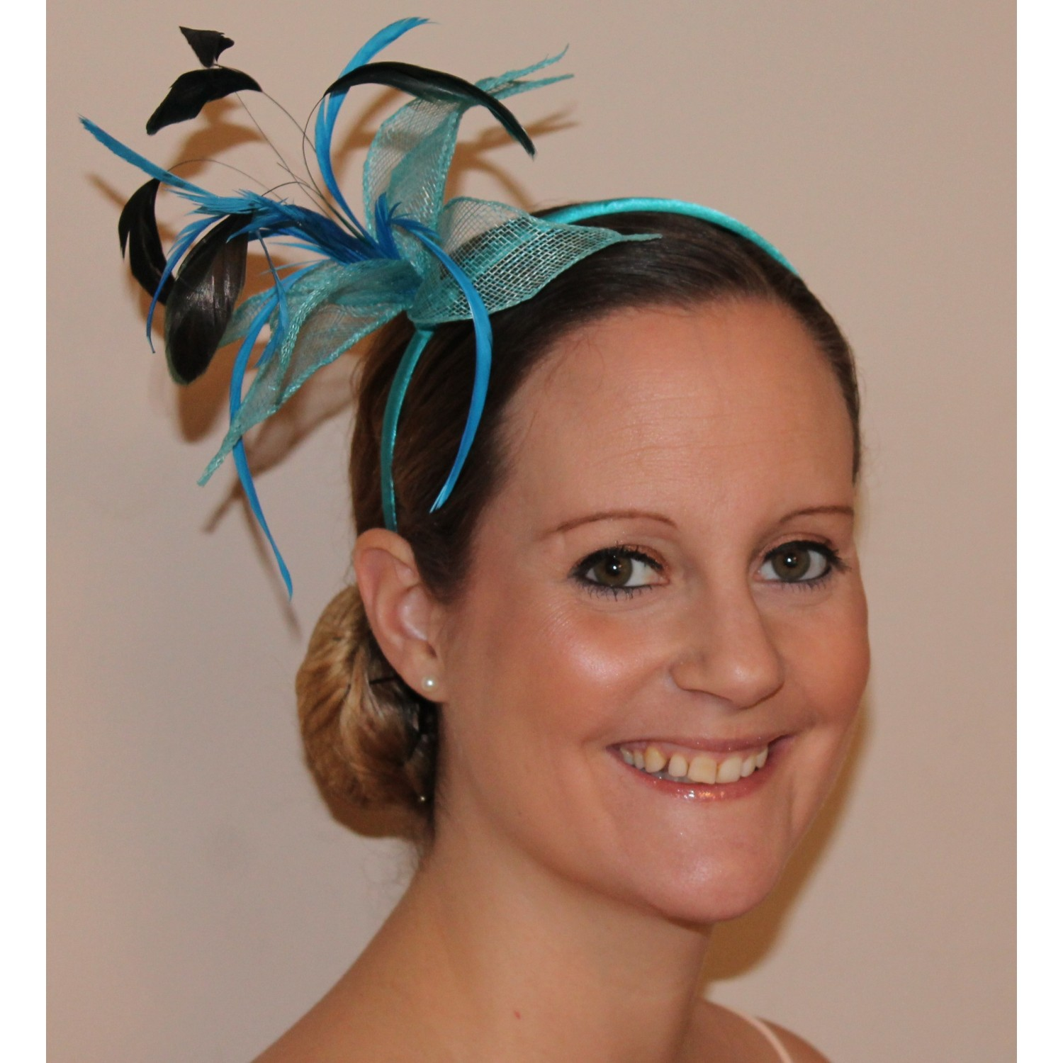 Stretchy Wedding Bands >> head bands hair bands headbands fascinator headband hair band large mesh fabric flower