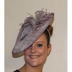Fischer UK Design Fascinator Hatinator on headband Hair band Flower Pearl Beads