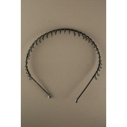 aliceband - black metal trançado comb headband banda alice