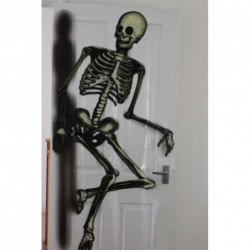 Halloween Skeleton Door Cover / Sofa Cover - Use this skeleton to decorate a room - put on sofa, walls or door!