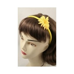 Aliceband - Fabric sunflower brightly coloured narrow...