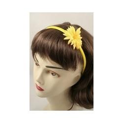 bunte schmale Kunststoff aliceband mit Stoff Sonnenblume