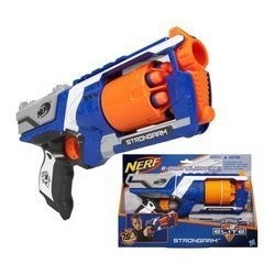 NERF Nerf Elite Strongarm Blaster with a 6-dart barrel for burst firing more than 20 meters by NERF