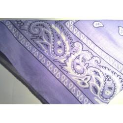 Lilac Paisley Cotton Bandana / Head Square / Neckerchief / Head Scarf