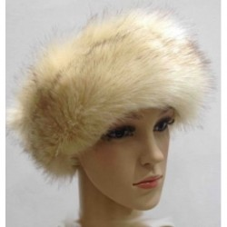 Faux Fur Headband - Ear Warmer Winter ski ear muffs Cream with Brown tint Hairband