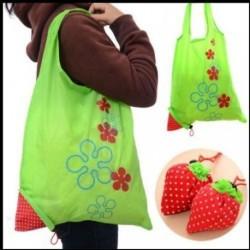 Eco Bag - Light Green Eco Storage Handbag Strawberry...