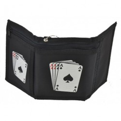 Wallet - Men Boys Wallet in Black with Four of a Kind...