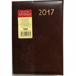 2017 one day to a page A5 diary padded luxury leatherette