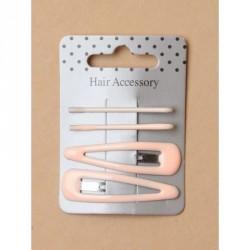Sleepies Hair Clips - Card of 4 pastel pink epoxy 4cm...
