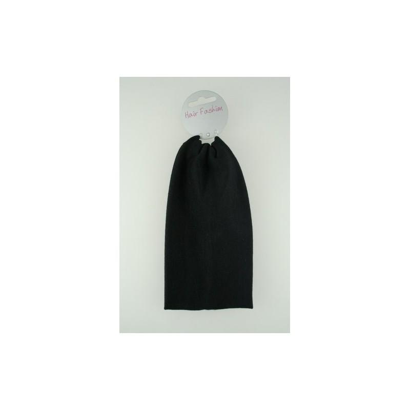 Headband - Extra Wide (9cm) black hair fashion stretch fabric kylie band head band