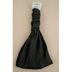 black creased fabric headwrap