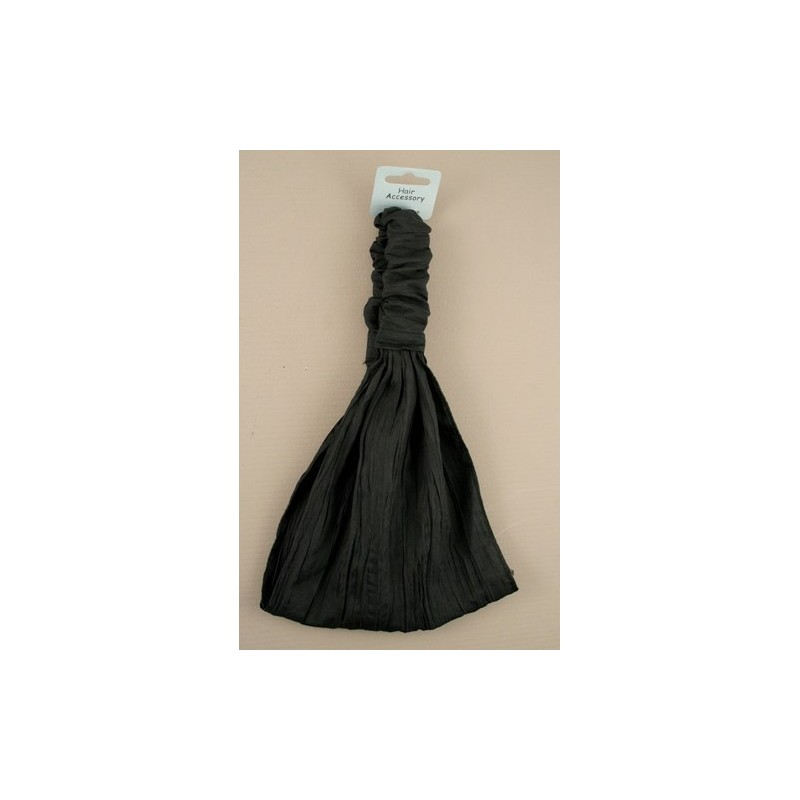 black creased fabric headwrap