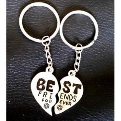 Keyring Charm - Best Friends Forever Heart Key-ring Two...