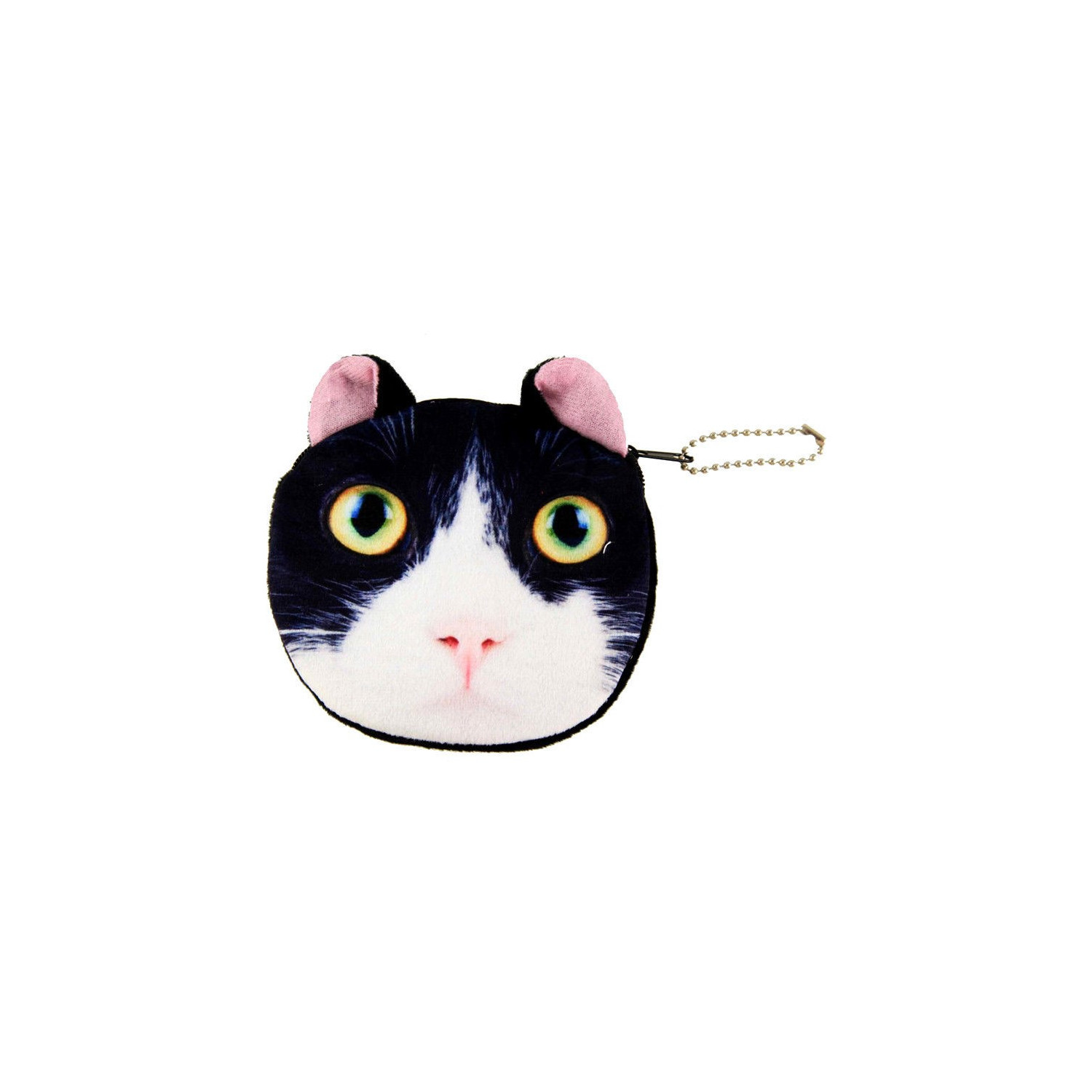 Black and White Soft feel Mini Coin Purse Cute Cat Kitty Style Purse party bag