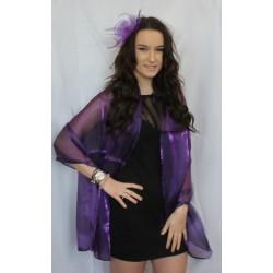 púrpura oscuro de bola del organza del mantón del abrigo de la bufanda robó la noche cena de la boda