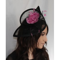 Hat Fascinator - Fischer UK Design 2 Tone Sinamay Hatinator Hair band fascinator