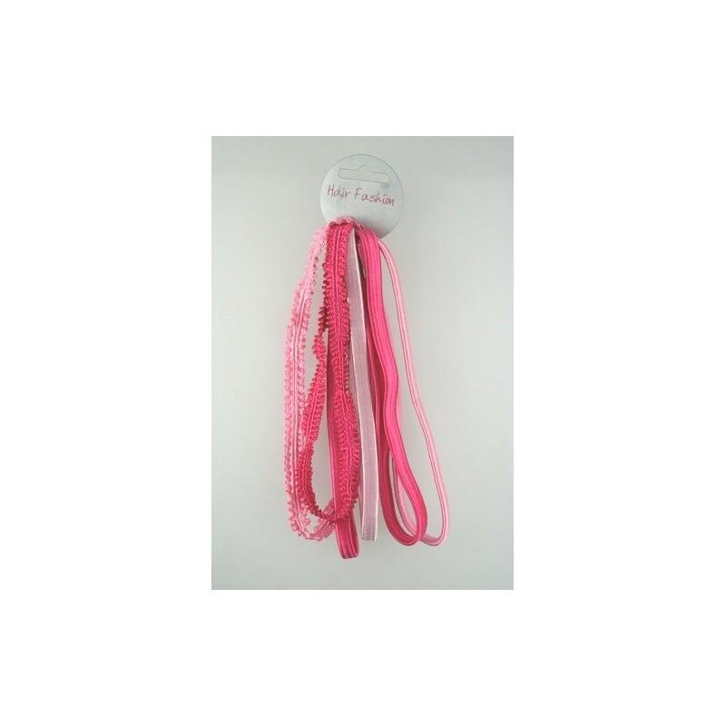 Headband - Six Pack - large thin pink elastics kylie band head bands