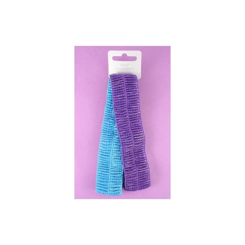 diadema - Twin Pack - colores metálicos mancha tramo de bandas para la cabeza de tela