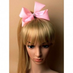 JoJo Bow - Baby Pink Jojo Ribbon Hair bow concorde Hair Clip Mia Accessories Clear diamante