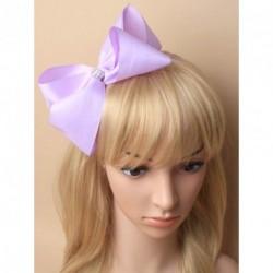 JoJo Bow - Pastel Lilac Jojo Ribbon Hair bow diamante concorde Hair Clip