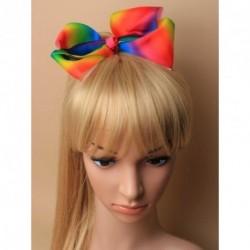 Jojo Ribbon Hair bow - concorde Hair Clip Rainbow White Dusty Rose Pink, Fuchsia