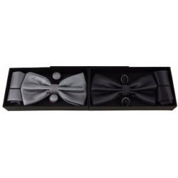 Bow Tie Set - Cufflinks Pocket Square HANDKERCHIEF Mens...