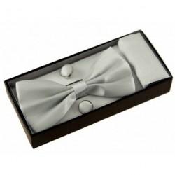 BOW Tie Cufflinks Pocket Square HANDKERCHIEF Men Boy...