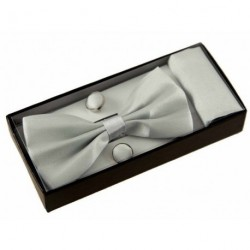 BOW Tie Cufflinks Pocket...