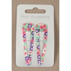 Click Clack Sleepies hair clips - card of 2 coloured...