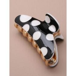 Hair Clamp - black and white design 8cm hair clamp