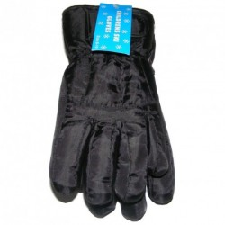 CHILDRENS / KIDS / BOYS BLACK WINTER SKI GLOVES SOFT POLYESTER LINING 8-10 YEARS